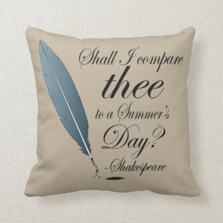 Shakespeare Summer's Day Quote Throw Pillow