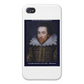 Shakespeare Tame Snake Love Quote Gifts &  iPhone 4/4S Case