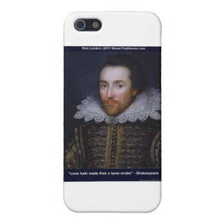 Shakespeare Tame Snake Love Quote Gifts & Tees iPhone 5/5S Cover