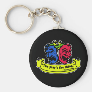 Shakespeare: The Play's The Thing Basic Round Button Key Ring