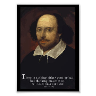 Shakespeare 'Thinking' quote poster