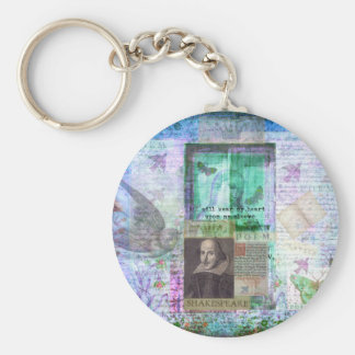 Shakespeare whimsical LOVE quote Key Ring