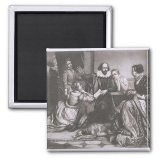 Shakespeare with his Family, at Stratford, Recitin Magnet