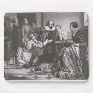 Shakespeare with his Family, at Stratford, Recitin Mouse Mat