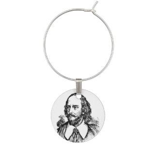 Shakespeare Writers Wine Charm