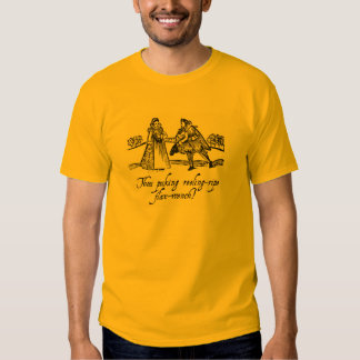 """Shakespearean Insult T-Shirt - """"Flax-Wench"""""""