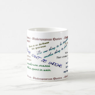 Shakespearean Quotes Mug