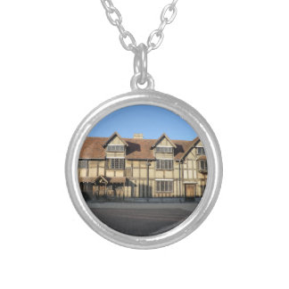 Shakespeare's Birthplace in Stratford Upon Avon Round Pendant Necklace