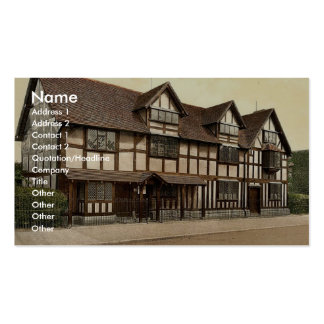 Shakespeare's birthplace, Stratford-on-Avon, Engla Business Card Templates