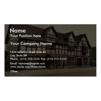 Shakespeare's birthplace, Stratford-on-Avon, Engla Pack Of Standard Business Cards