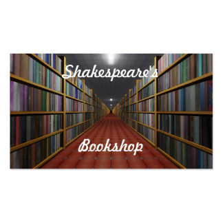 Shakespeare's Bookshop Pack Of Standard Business Cards