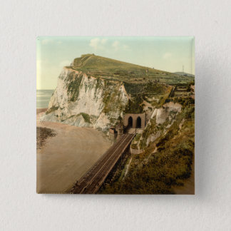 Shakespeare's Cliff, Dover, Kent, England 15 Cm Square Badge