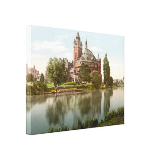 Shakespeare's Memorial Theatre, Stratford-on-Avon Stretched Canvas Print