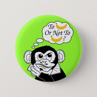 Shakespeare's Monkey 6 Cm Round Badge