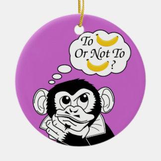 Shakespeare's Monkey Christmas Ornament