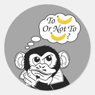 Shakespeare's Monkey Classic Round Sticker
