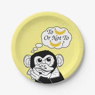 Shakespeare's Monkey Paper Plate