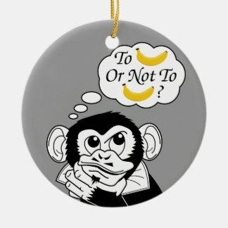Shakespeare's Monkey Round Ceramic Decoration