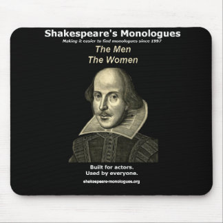 Shakespeare's Monologues Mousepad, Black Mouse Mat
