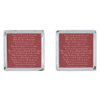 Shakespeare's Sonnet 116 Cufflinks Silver Finish Cuff Links