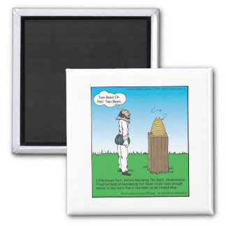 Shakespeare's The BeeKeeper Funny Gifts & Tees Square Magnet