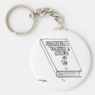 Shakespeare's Tragedies and Sitcoms Basic Round Button Key Ring