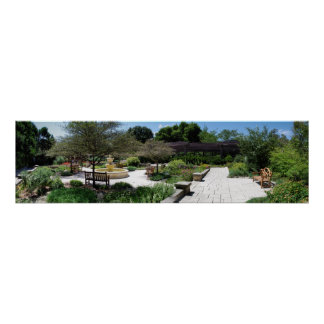 Shakespearian Garden Panoramic Poster