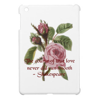 Shakespearian Love Quote and Vintage Red Rose Cover For The iPad Mini