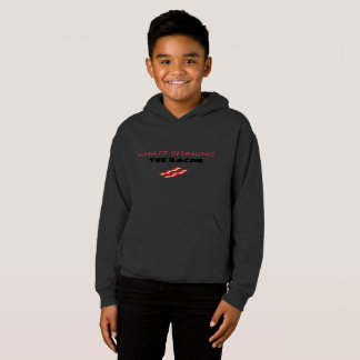SHAKING THE BACON HOOODIE (Youth Large)