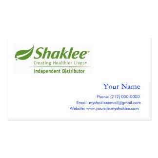 Shaklee Independent Distributer Business Card