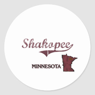 Shakopee Minnesota City Classic Stickers