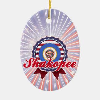 Shakopee, MN Ceramic Oval Decoration