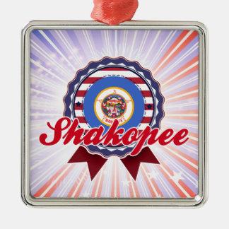 Shakopee, MN Silver-Colored Square Decoration