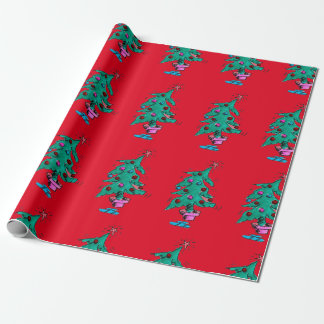 Shaky Christmas Tree Wrapping paper
