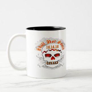 Shall Not Snitch 19 14 19 Two-Tone Mug