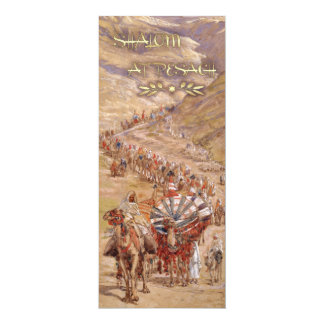 Shalom at Pesach. Fine Art Passover Greeting Cards 10 Cm X 24 Cm Invitation Card