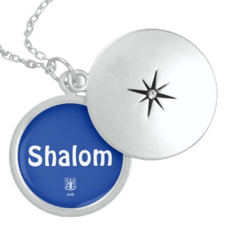 Shalom Blue Round Locket
