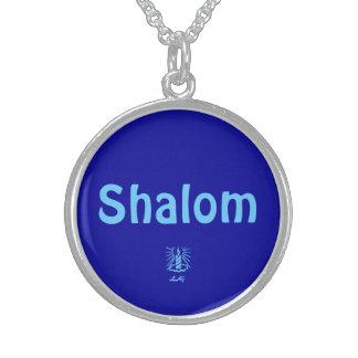 Shalom Blue Round Necklace
