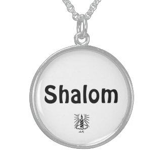 Shalom Candle Round Necklace