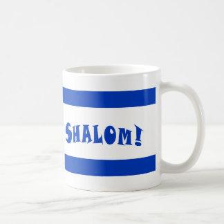 Shalom Flag of Israel Basic White Mug
