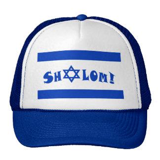 Shalom Flag of Israel Mesh Hats