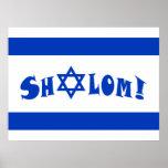 Shalom Flag of Israel Print