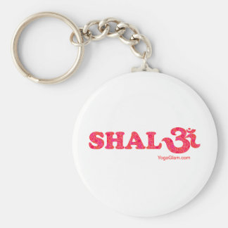 Shalom flowers key ring