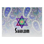 Shalom in Blue Paisley Print