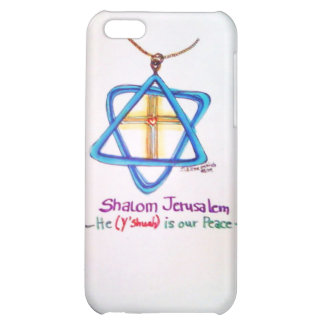Shalom Jerusalem Capital of Israel iPhone cover iPhone 5C Cover
