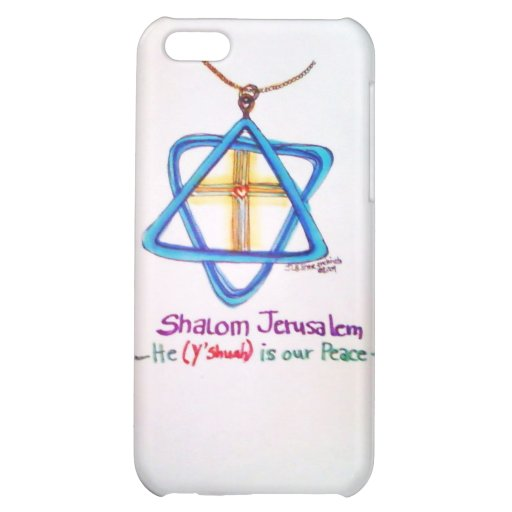 Shalom Jerusalem Capital of Israel iPhone cover iPhone 5C Cases
