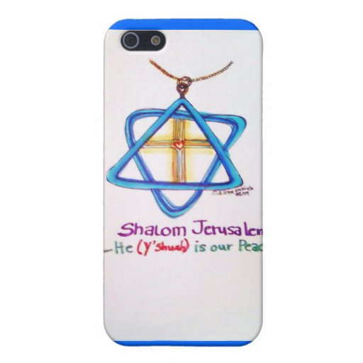 Shalom Jerusalem Capital of Israel iPhone cover iPhone 5 Cover