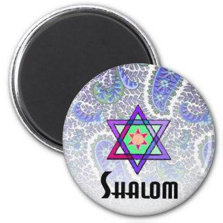 Shalom Paisley blue Magnet