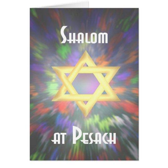 Shalom Tie dye at Pesach Card