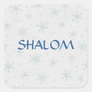 Shalom Wishes Hanukkah Square Sticker